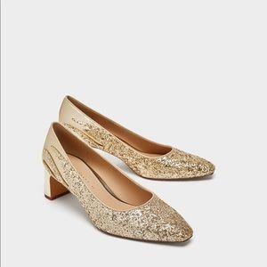 ZARA gold court shoes US 6 EU 36